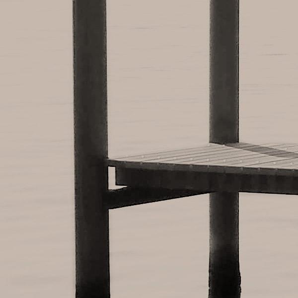 schwarz/weiss, Schiffssteg, Douglasie-Holz, Renovation