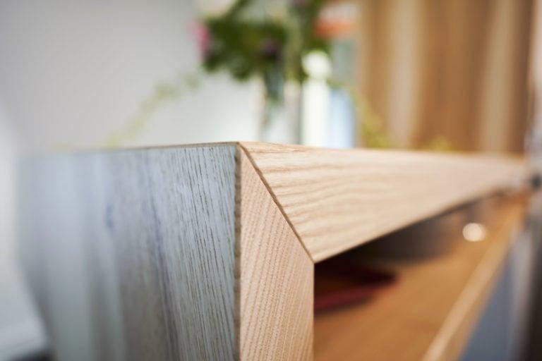 Esche, Ablage, Ecke, Holz