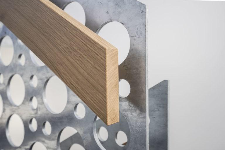 Eichen, Handlauf, Treppengeländer, Metall