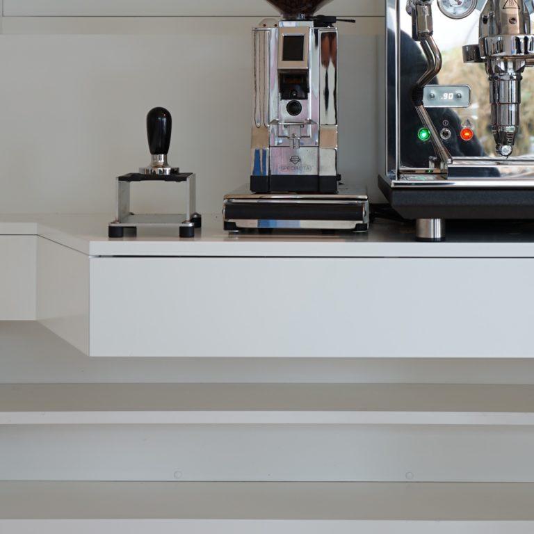 Kaffeemaschine-Ablage, Einbauschrank, Küche