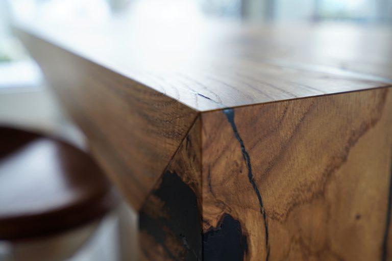Bar, Ablage, Tisch, Eiche, Massivholz